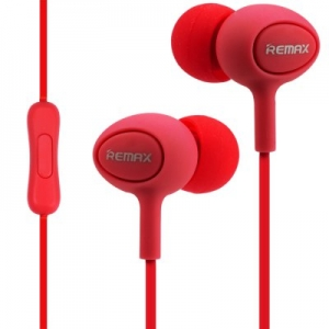 EARPHONE RM-515 WITH MICROPHONE RED REMAX